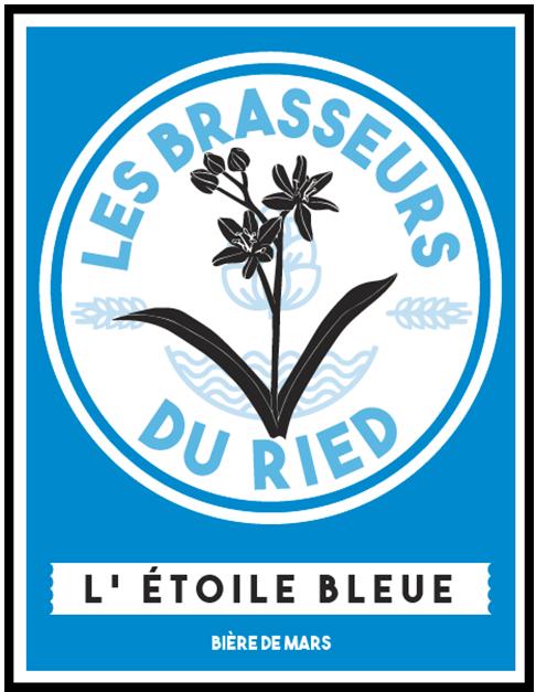 Etoile bleue Bière de mars brasseurs du ried